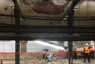 Falling ceiling debris disrupts subway service at Brooklyn station